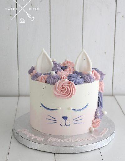 cat unicorn style cake
