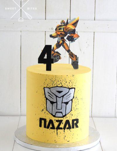 transformers bumblebee cake