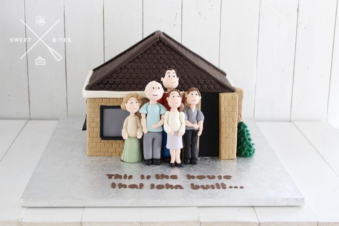 family home house 3d cake
