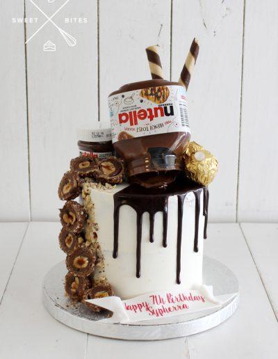 nutella forerro rocher overload cake