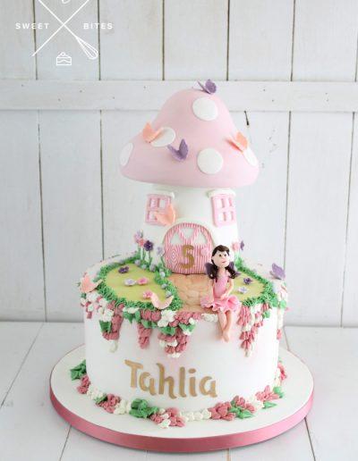 fairy house toadstool mushroom garden 5th birthday