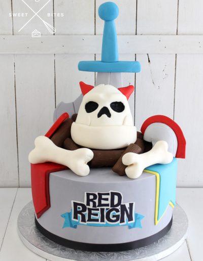 red reign game cake ninja kiwi