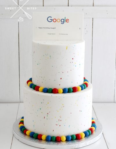 google corporate 21st birthday search cake