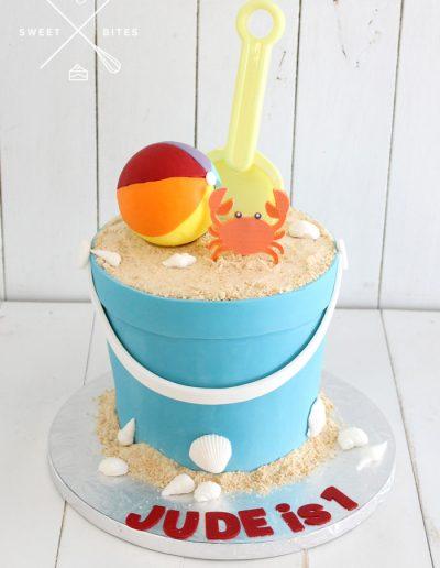 sand bucket cake beach sand castle 1st birthday