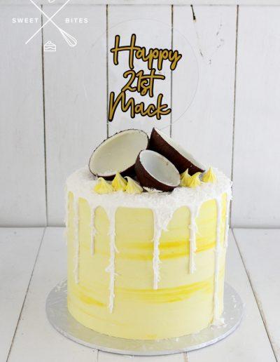 21st birthday tropical coconut cake