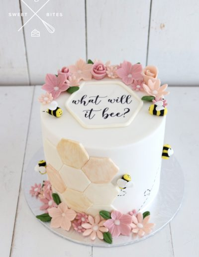 what will it bee gender reveal baby shower cake