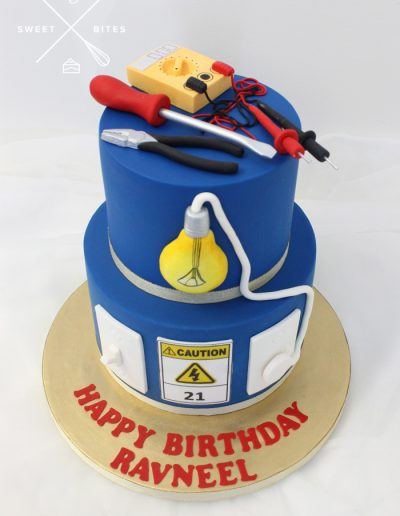 electrician tradie cake 2 tier apprentice
