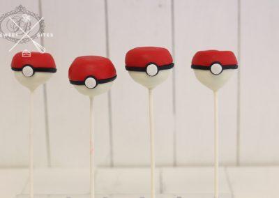 pokemon ball cake pops