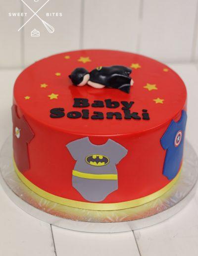 baby shower superhero batman cake