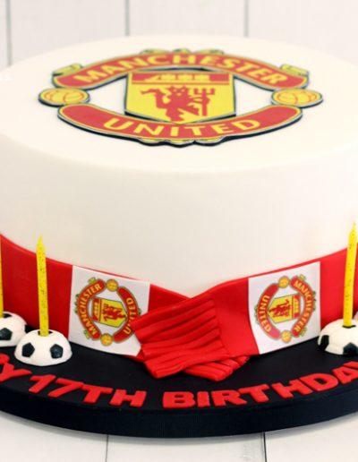 football soccer manchester united cake