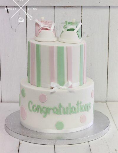 baby shower cake pink green girl boy