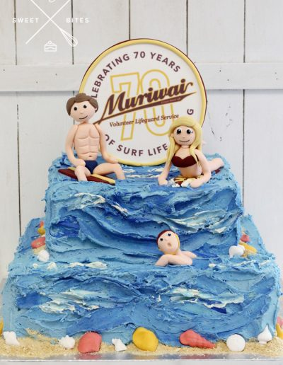 surf lifesaving club ocean sea surf swim cake