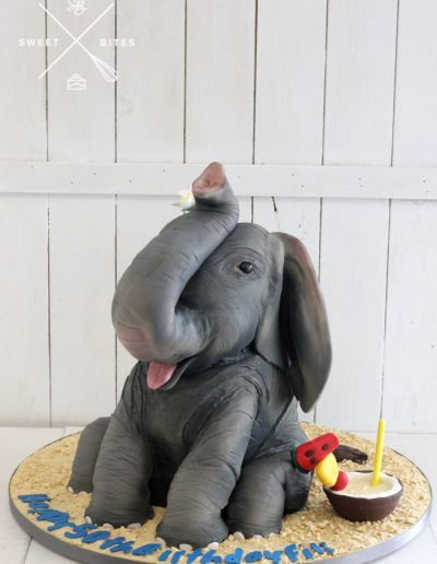3d elephant cake tropical holiday