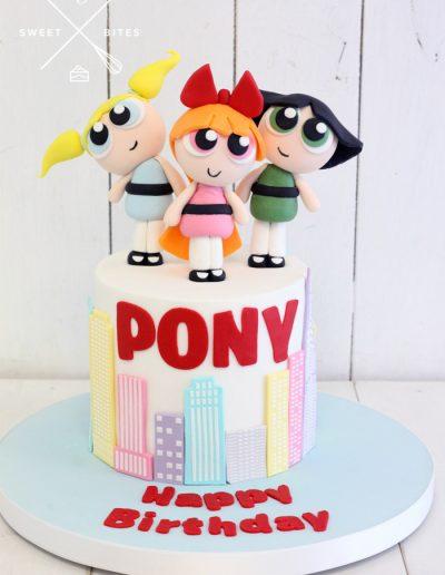 powerpuff girls cake