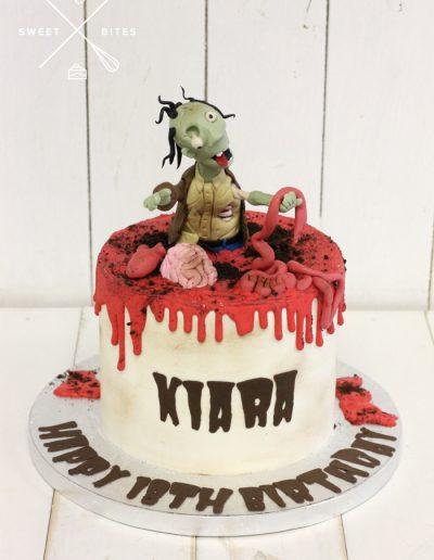 plants vs zombies gory horror cake