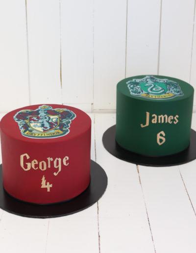 harry potter house cake gryffindor slytherin