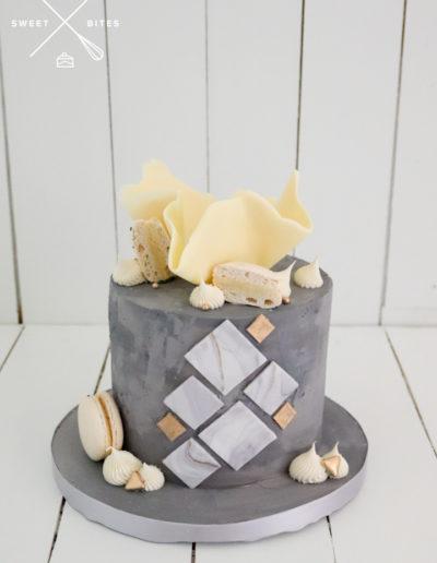 grey concrete cake abstract geometric