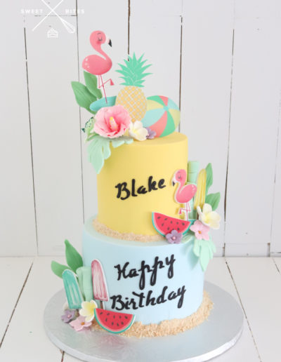 holiday tropical cake summer