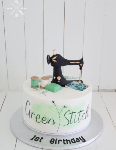 sewing machine singer cake stitching