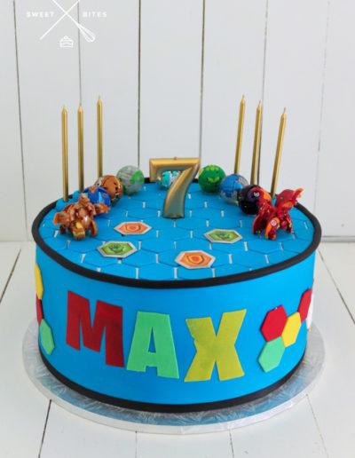 bakugan cake toy arena 7th birthday
