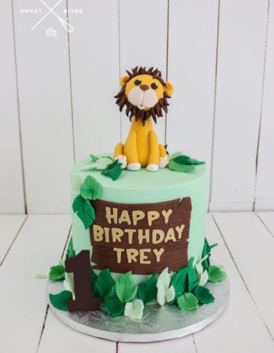 lion cute cake jungle 1st birthday
