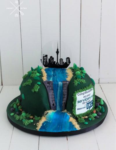 elecrtic hydro dam auckland city cityscape cake