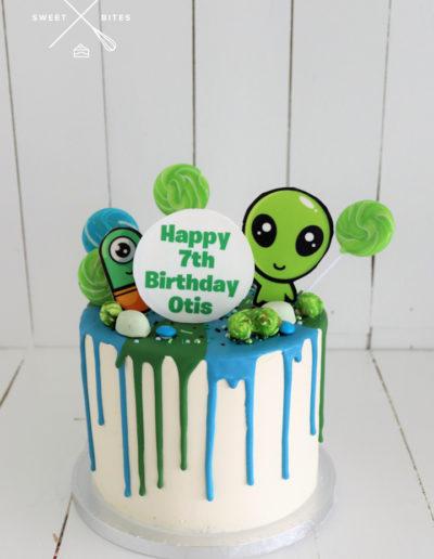 alien drip cake candy lollies