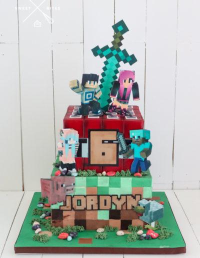 minecraft cake 2 tier tnt