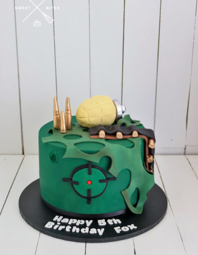 army cake grenade bullets military