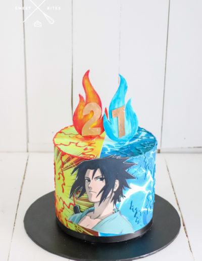anime cake naruto cartoon 21st cake