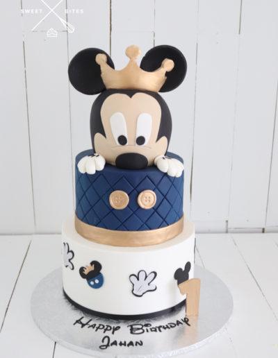 mickey mouse cake disney blue 1st birthday