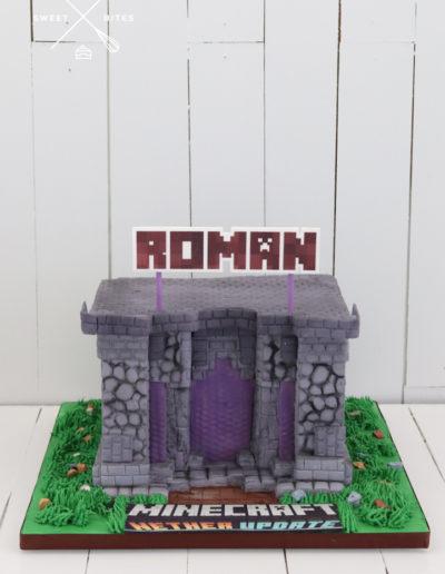 minecraft temple cake 3d
