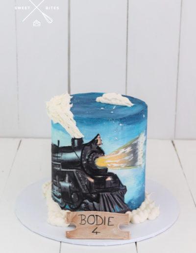 polar express train cake