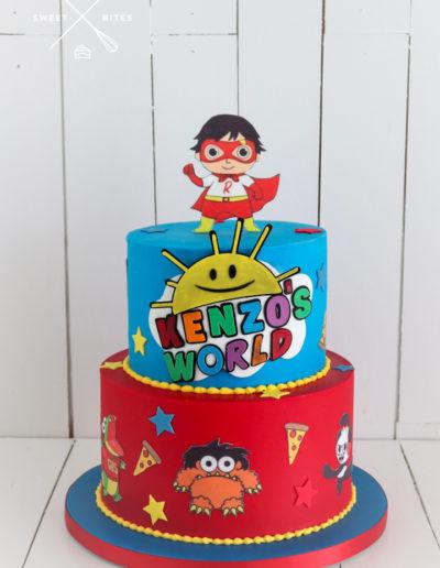ryans orld cake cartoon kids cake