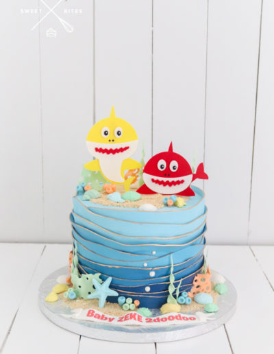 under the sea ocean baby shark cake