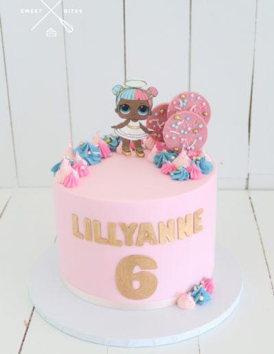 lol doll pink cake