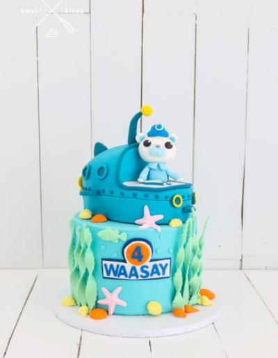 octonaut sea theme submarine cake captain barnacles bear